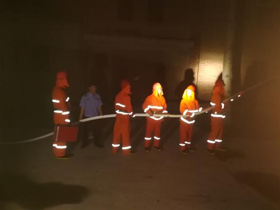 7月夜间消防演练